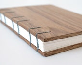 Teak Exotic Hardwood Journal Sketchbook - Coptic Stitched Open Spine Lay Flat