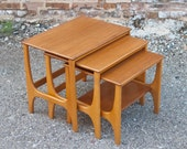 Vintage Modern Teak Nesting Tables