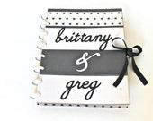 Personalized Wedding Planner Bridal Journal Wedding Scrapbook Organizer Engagement Gift Black White