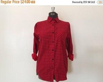 xoxo... Vintage Flannel Shirt / SM/Med / Plaid Shirt
