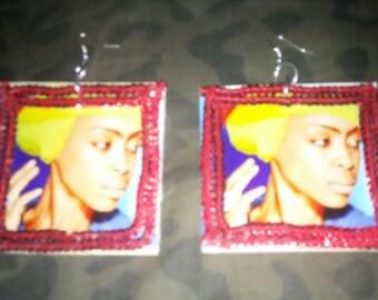 Extra arge Erykah badu earrings