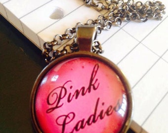 "The Grease Movie ""Pink Ladies"" 25mm Round Pendant"