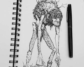 Bog Troll - Print of my original illustration