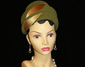 ON SALE 10% OFF Vintage Moss Green Felted Wool Hat Fashionable Union Made Church Hat Afternoon Tea Any Occasion
