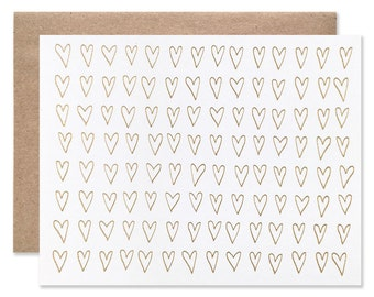 Foil Gold Hearts Card