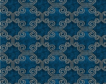 Peacock Blue Chenille Upholstery Fabric - Moroccan Fabric for Furniture - Blue Chenille Pillow Covers - Ethnic Design Fabric Online