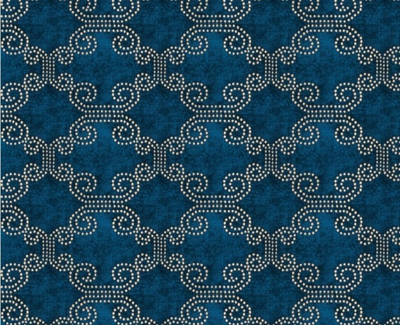Peacock blue chenille upholstery fabric moroccan fabric for for Moroccan wallpaper uk