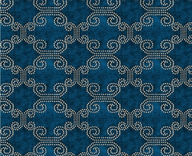 Peacock Blue Chenille Upholstery Fabric Moroccan Fabric For