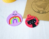 Cat ID Tag Personalised - Identity Tag for Cat