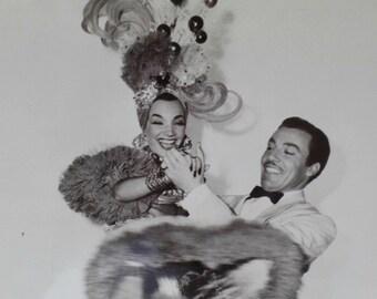 Carmen Miranda, Cesar Romano, Weekend in Havana, Original Photograph, Numbered, Promotional Press Release, Black White