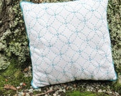 Japanese Sashiko Kit with Pre-Printed Sashiko Fabric Pattern Sampler - Olympus Sashiko ShiBouTsunagi on White Fabric