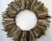 Large Driftwood Wreath, Rustic Home Decor, Beach Home Decor
