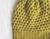 Crochet Puff Stitch Beanie PATTERN