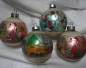 Vintage Glass Christmas Ornaments, Disney Ornaments