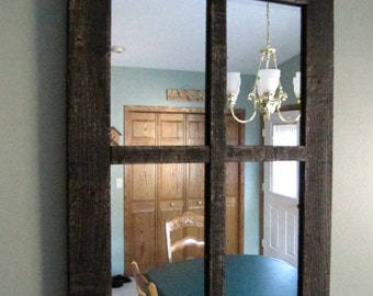 Barnwood Window Mirror 4 Panes