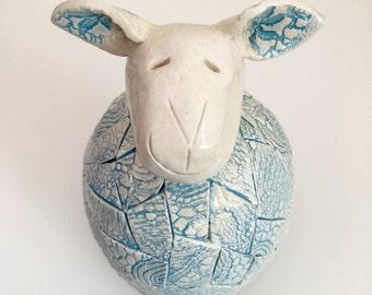 Samuel the ceramic sheep *SALE*