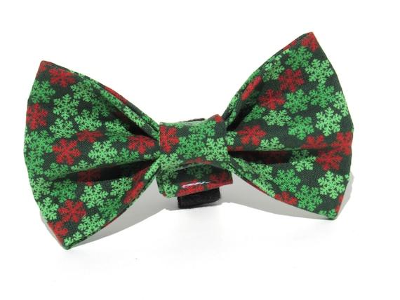 Christmas Bow Tie, Snowflake Bow Tie, Christmas Dog Bow Tie, Dog Bow Tie, Bowtie, Christmas Bow, Doggy Bowtie
