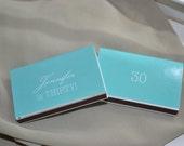 "50 Custom Designed Birthday Matchbox Favors - ""Natalie is Thirty"""