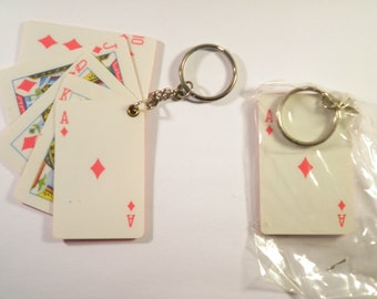 2 Deck of Cards Key Chains