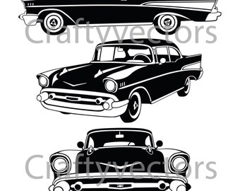 1957 Chevrolet Bel Air Vector File
