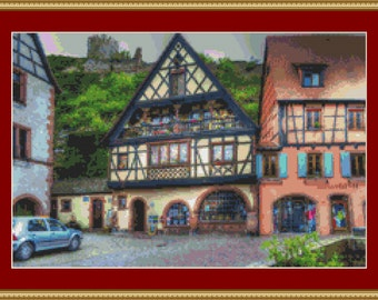 Kaysersberg Houses Cross Stitch Pattern