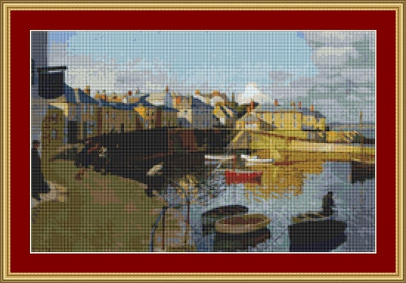 A View Of Mousehole Cross Stitch Pattern /Digital PDF Files /Instant downloadable