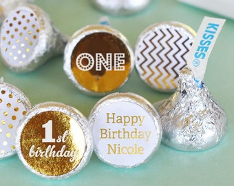 Baby Shower Personalized  Hershey Kisses, Baby Shower Favors, Baby Shower Candy Buffet, Set of 108