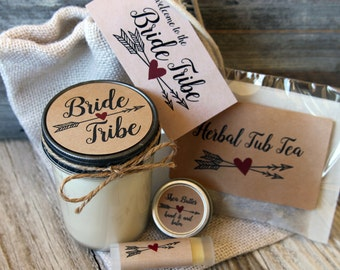 Bride Tribe - Will you be my Bridesmaid Gift//Will you be my Maid of Honor Gift//Bridesmaid Candle//Maid of Honor Candle//Bachelorette Gift