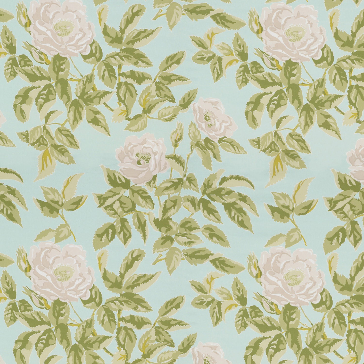 Schumacher english country cabbage roses chintz fabric 10 for Chintz fabric