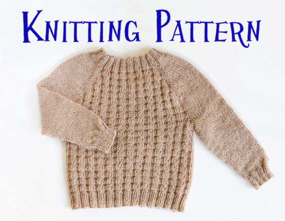 Knitting Pattern For Age : PDF Knitting Pattern Little Willow Pullover Ages 0-10