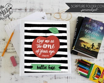 Personalized Scripture Folder Covers, Apple of My Eye, No. 2