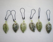 Reserved for Sarah Campbell -Set of 6 leaf shaped removable stitch markers