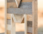 wood letters for wall - large wooden letters - wooden wall letters - reclaimed wood letters