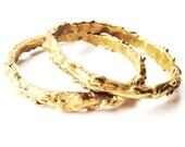 Molten Brass Bangles