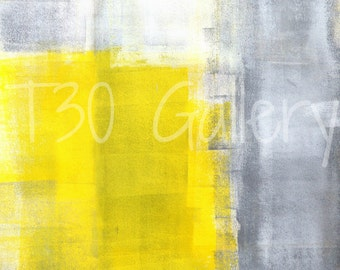 Digital Download - That's It, Grey and Yellow Abstract Artwork