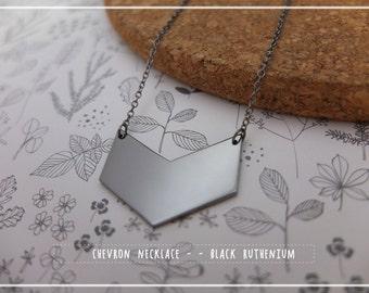 Chevron Necklace - minimalist geometric jewelry, Arrow Tip necklace, simple chevron jewelry Bridesmaid ,mother, X'mas gift