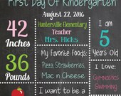 Chalkboard First Day of School Printable Pink Books