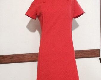 Vintage Orange Shift Dress