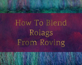 How To Blend Rolags From Roving - Blending Board Tutorial - Textured Art Rolag or Smooth Traditional Rolags Spinning Fiber Tutorial