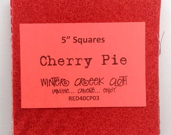 "Cherry Pie 5"" Squares (RED40CP03)"