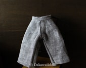 Blythe Doll Outfit /  1/6 doll size /  cropped pants/ gray
