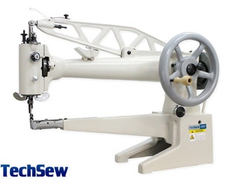 TechSew 2900L Industrial Sewing Machine - Leather Patcher, Patching Machine