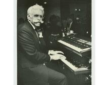 Keyboardist, 1970s Vintage Snapshot Photo 8x10 (61448O/S)
