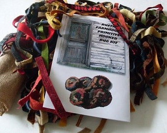 PrimiTive Folkart Hooked Rug Penny Ornament Kit   We Ship Internationally