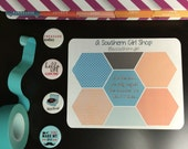 Hexagon - 'Chances' - (Neopolitan) - inkWELL Press Planner Stickers - Bound and A5 sizes available