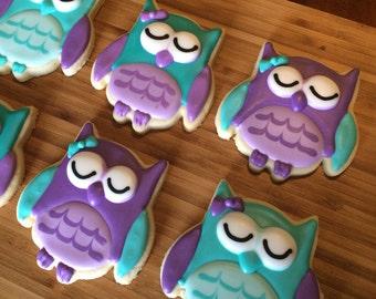 Sleeping owl cookies