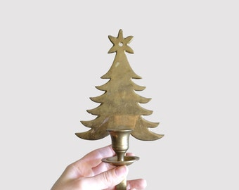 Vintage Christmas Tree Candle Holder