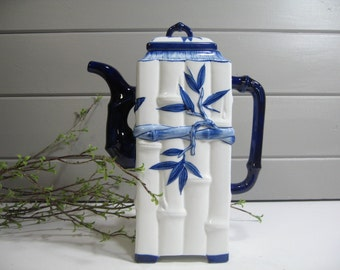 Large Coffee Pot, Coffee Server, Chinoiserie Pitcher, Asian Design