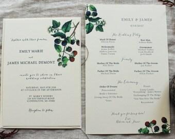 Custom Wedding Stationery for Tess