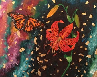 Monarch Orbits Tiger Lily